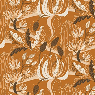 PBS Fabrics Desert Plants, Burnt Orange