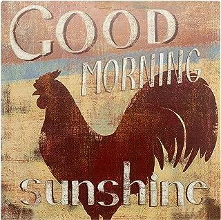 Barnyard Designs 'Good Morning Sunshine' Rooster Retro Vintage Tin Bar Sign Country Home Decor 11
