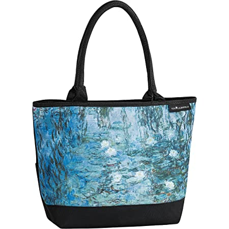 VON LILIENFELD Handtasche Damen Kunst Motiv Claude Monet Seerosen Shopper Maße L42 x H30 x T15 cm Strandtasche Henkeltasche Büro