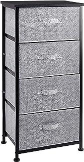 AmazonBasics Commode pour armoire - 4 tiroirs en tissu - noir