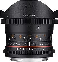 Samyang VDSLR II 12mm T3.1 Ultra Wide Cine Fisheye Lens for NikonDSLR Cameras - Full Frame Compatible