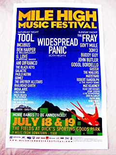 2009 Tool Widespread Panic Fray Incubus Mile High Music Festival Concert Poster