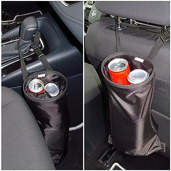 TOPLUS 2-Pack Car Trash Bag Car Garbage Can Car Trash Bin Waste Container Bags