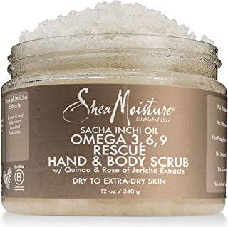 Shea Moisture Sacha Inchi Oil Omega-3-6-9 Rescue Hand Body Scrub for Unisex, 12 Ounce
