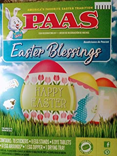 PAAS Easter Blessings Egg Decorating Kit - Dye Tablets and Stickers. Religious Themed.