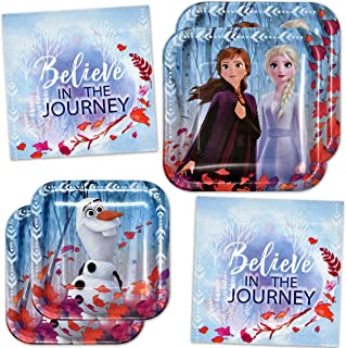 Disney Frozen 2 Movie Birthday Party Supplies Tableware Set Include 8 9