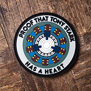NEO Tactical Gear Proof That Tony Stark Has A Heart PVC Rubber Morale Patch – Hook Backed with Loop Attachment Piece That Can Be Sewn On by NEO Tactical