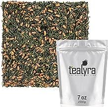 Tealyra - Imperial Gyokuro Genmaicha - Japanese Loose Leaf Tea - Gen Mai Cha Green Tea with Brown Roasted Rice - Organically Grown - Caffeine Level Low - 200g (7-ounce)