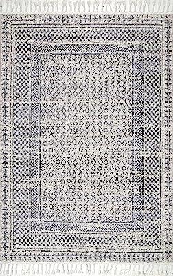 nuLOOM Claudia Diamond Area Alfombra, 10' x 13', Gris Multi
