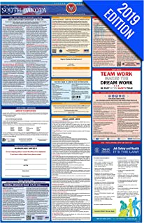 2019 South Dakota Labor Law Poster – State, Federal, OSHA Compliant – Single Laminated Poster