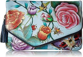 Anuschka Damen Hand Painted Leather Women's Convertible Envelope Wristlet, handgemalt, Leder, konvertierbar, Kuvert-Clutc...