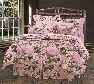 HiEnd Accents Oak Camo Comforter Set, Twin, Pink