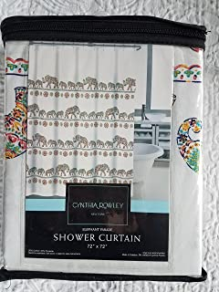 Cynthia Rowley Shower Curtain Elephant Parade multicolor