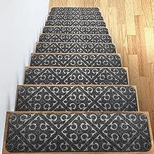 "Carpet Stair Treads Set of 13 Non Slip/Skid Rubber Runner Mats or Rug Tread – Indoor Outdoor Pet Dog Stair Treads Pads – Non-Slip Stairway Carpet Rugs (Gray) 8"" x 30"