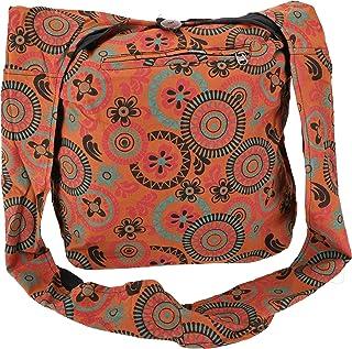 GURU SHOP Sadhu Bag, Goa Tasche, Schulterbeutel, Einkaufsbeutel - Modell 1, Herren/Damen, Baumwolle, 40x35x25 cm, Alternat...