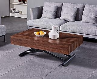 VOLERO' SHOPPING ONLINE Table Transformable Table Extensible Salvaspazio modèle Achille Couleur Noyer Piston à gaz