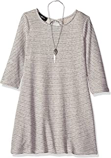 Amy Byer Girls' Big line Dress with 3/4 Length Sleeves
