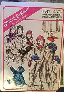 Stretch & Sew Pattern F841, Miss, Men, Child & Infant Accessories