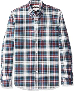 Goodthreads Standard-Fit Long-Sleeve Plaid Oxford Shirt Hombre