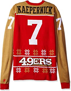 NFL San Francisco 49ers Player Portrait Ugly Sweater, Colin Kaepernick, Small