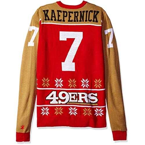 226d4d719fc San Francisco 49ers Kaepernick C.  7 2015 Player Ugly Sweater Double Extra  Large