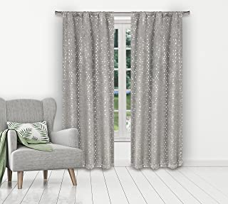 Kelvin Margie Insulated Blackout Room Darkening Curtain Set of 2 Panels, 38 x 84, Silver