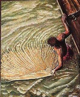 """Cuadro Óleo""""El pescador del rio"""""""