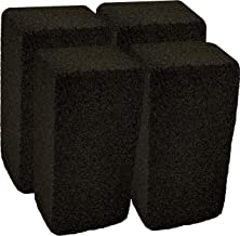 Upper Midland Products Grill Griddle Cleaning Brick Block, Pack of 4 - Pumice Cleaner Stone Tool for Grates, Flat top Cookers and Stoves in Bulk