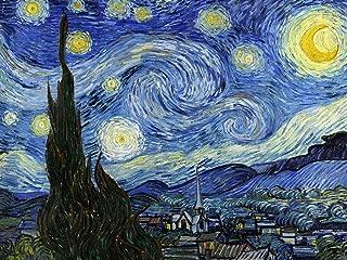 Starry Night by Van Gogh Vincent Accent Tile Mural Kitchen Bathroom Wall Backsplash Behind Stove Range Sink Splashback One Tile 8