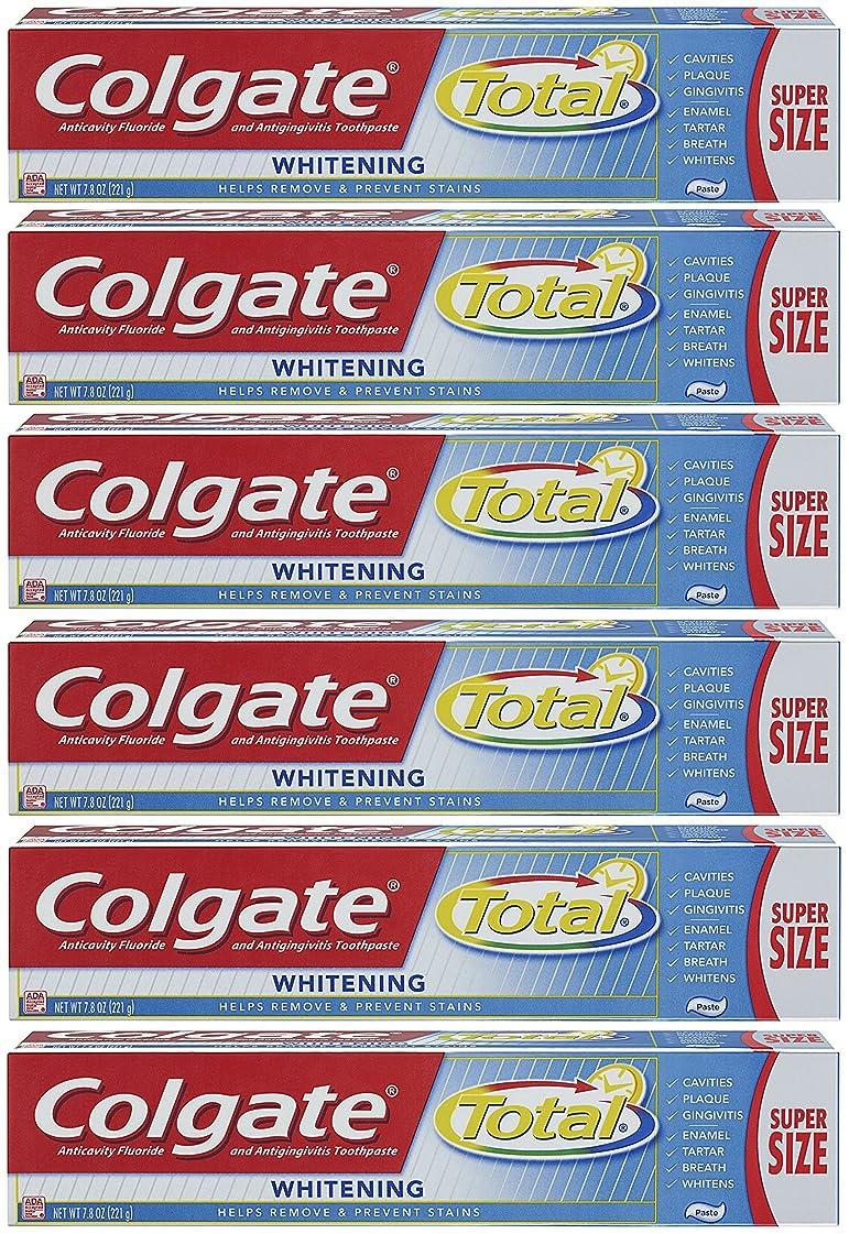 絡まる多年生キモいColgate トータルプラスホワイトニングの歯磨き粉、7.8オンスチューブ(6パック)