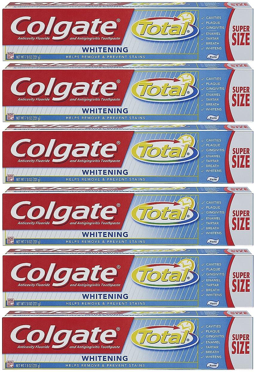 クリップ厚さ単独でColgate トータルプラスホワイトニングの歯磨き粉、7.8オンスチューブ(6パック)