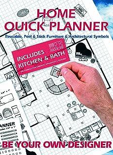 Home Quick Planner: Reusable, Peel & Stick Furniture & Architectural Symbols