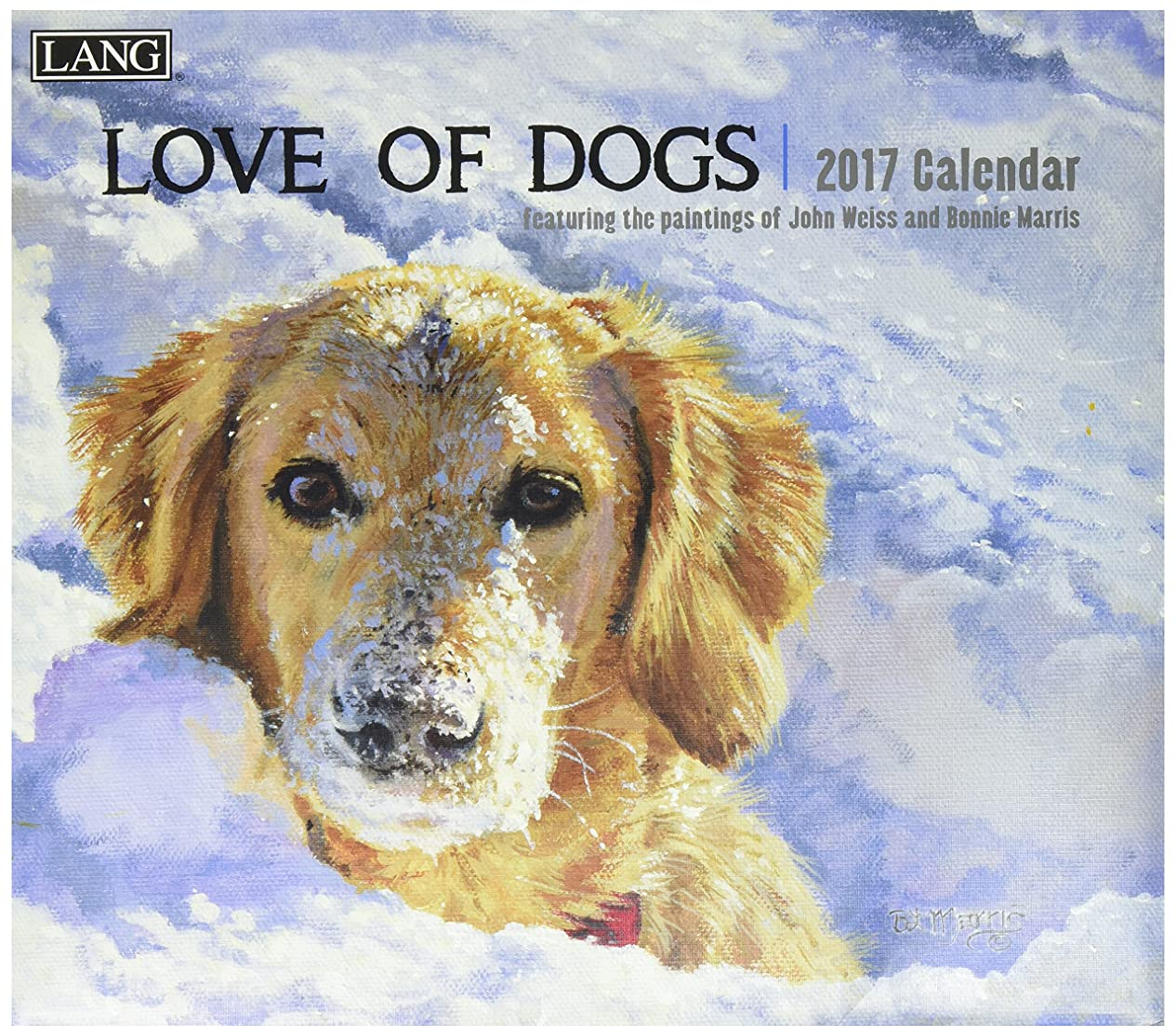 更新潮ほとんどの場合【LANG ラングカレンダー 2017】 LOVE OF DOGS (1001927)