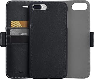 AmazonBasics iPhone 8 Plus / 7 Plus PU Leather Wallet Detachable Mobile Cover, Black