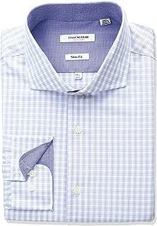 Men's Slim Fit Multi Check Cut Away Collar Dress Shirt