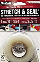Nashua Stretch & Seal Self-Fusing Silicone Tape, 1 in. x 10 ft., Clear