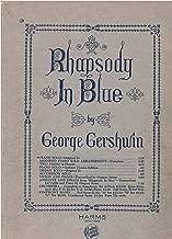 RHAPSODY IN BLUE Piano Solo - Original Eb edition - By George Gershwin (Sheet Music) 31 pgs.
