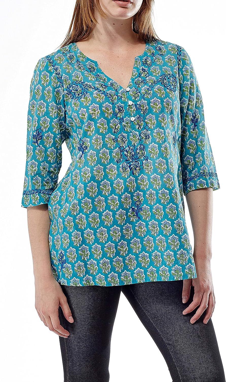 LA CERA Women's Embroidered Atlanta Mall Plus Printed outlet Size Tunic