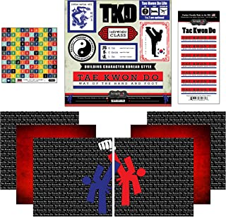 Scrapbook Customs Go Big Tae Kwon Do Themed Paper and Stickers Scrapbook Kit, 12 inch by 12 inch