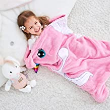 SINOGEM Unicorn Blanket for Kids Animal Sleeping Bag Gifts for Girls Cute Throw Blanket for Bed Couch Travel Sleepovers Outdoor Animal Plush Toy 27 Inch by 36 Inch Pink
