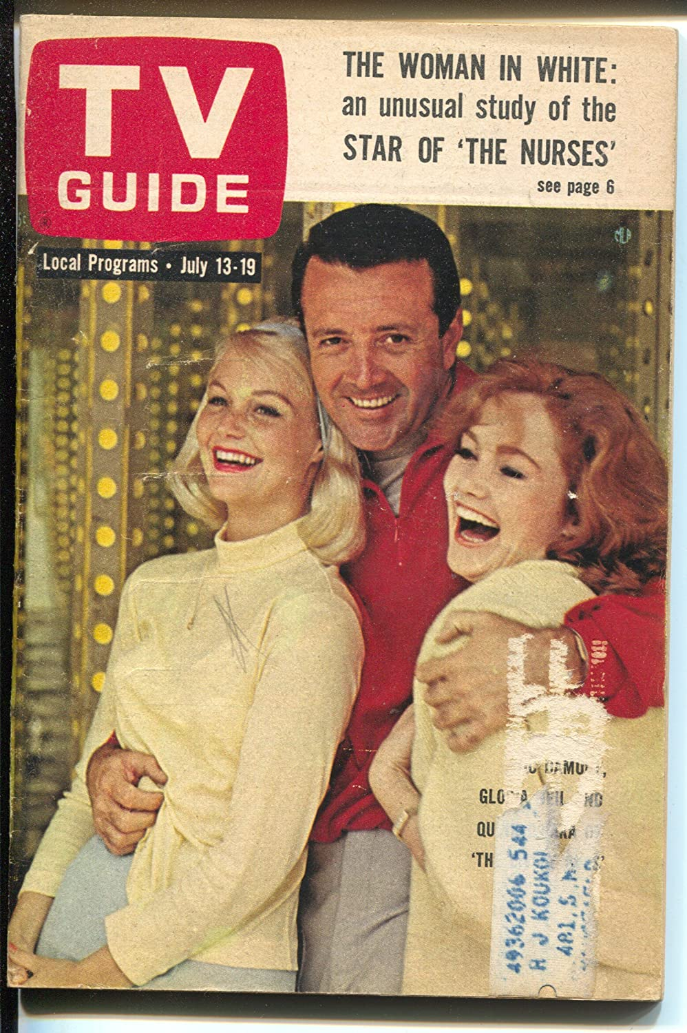 Max 50% OFF TV Guide Excellent 7 18 1963-The Howard-Vic Nurses-Shirl Conway-Ron Damone