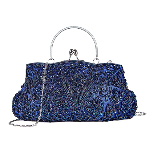 221ce73a77ce KISSCHIC Vintage Beaded Sequin Design Clutch Purse for Women Evening Bag