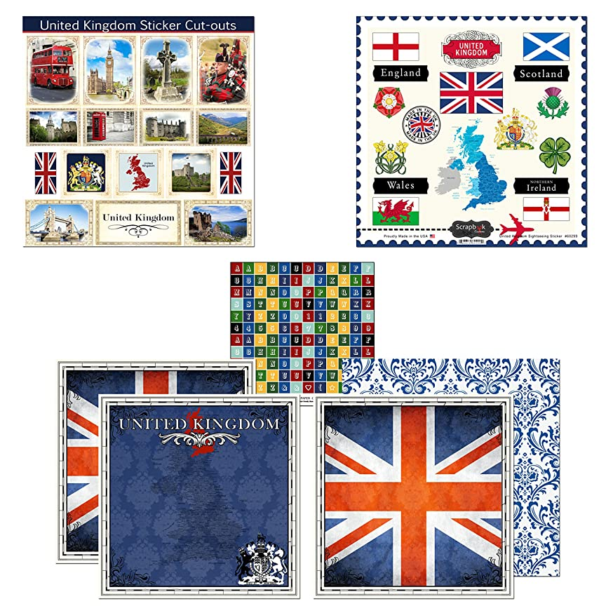 Scrapbook Customs Themed Paper and Stickers Scrapbook Kit, United Kingdom Sightseeing