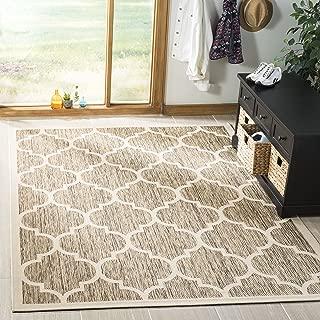 Safavieh Courtyard Collection Brown and Bone Indoor/ Outdoor Area Rug (9' x 12')