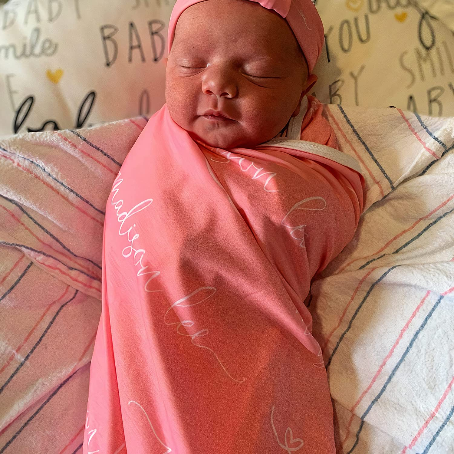 Sale List price Personalized Baby Gift Girls wi Blanket Customized