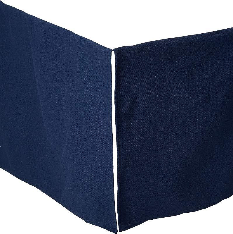 Navy Crib Skirt 17 Drop