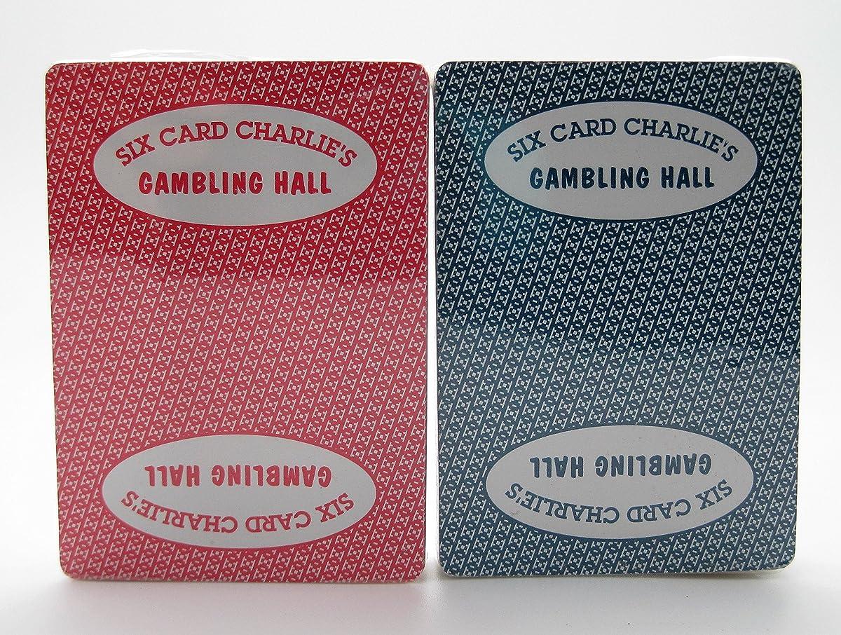 KEM Set of 2 Six Card Charlie's Casino Original KEM Cards 100% Plastic