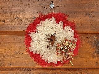 Ghirlanda Natalizia con Tulle Brillante Idea Regalo Decorativo Natale Capodanno Arredamento Ornamento Parete Porta