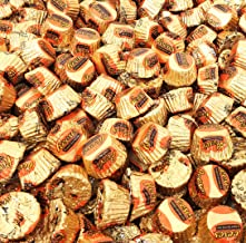 CrazyOutlet Reese's Miniature Milk Chocolate Peanut Butter Cups, Gold Foil Candy, Bulk 2 Lbs