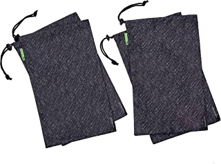 Travelon Clean-Antimicrobial 4 Shoe Covers-SILVADUR Treated-Gray Heather